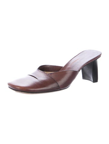 Costume National Leather Square-Toe Mules buy cheap visit 7ZHL1r