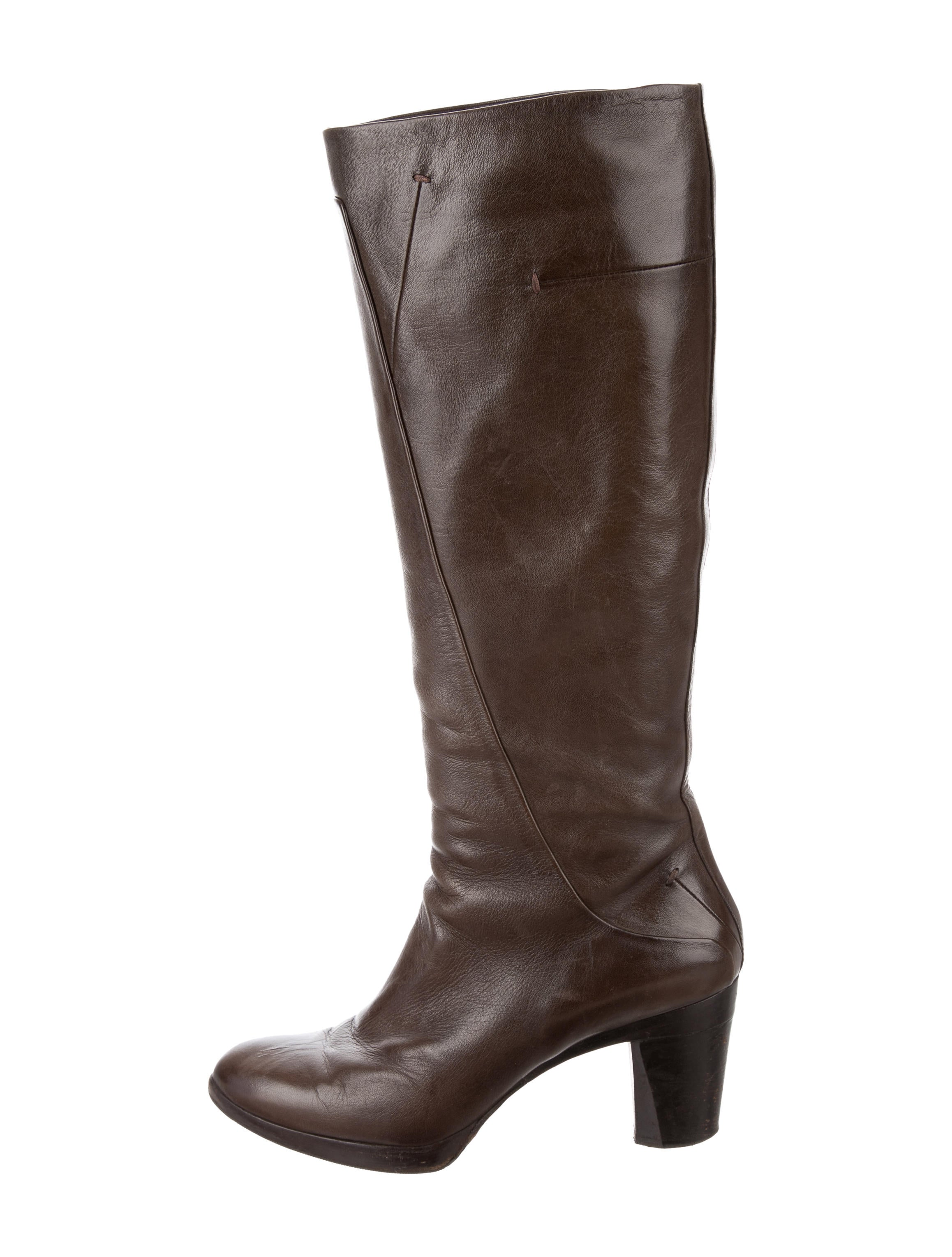 costume national leather knee high boots shoes