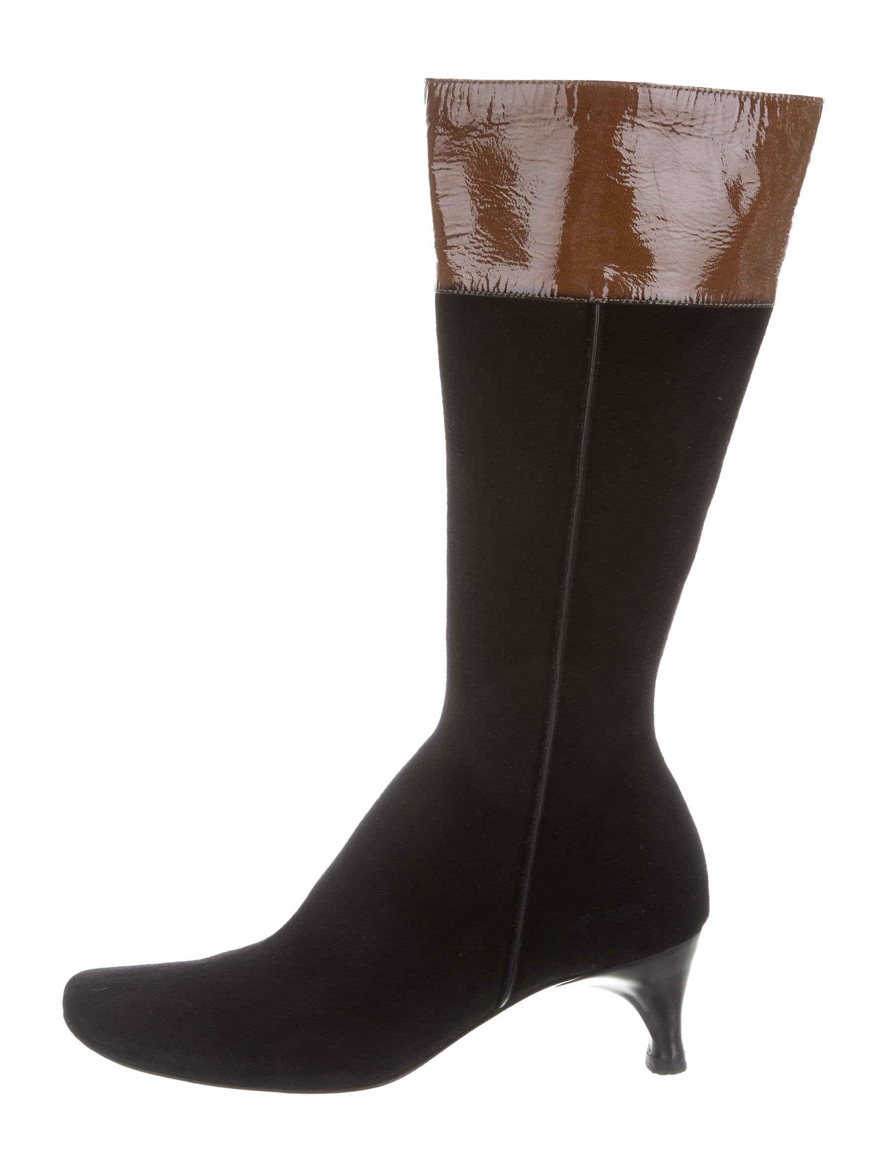 costume national suede toe boots shoes cot24199
