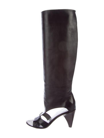 Costume National Knee-High Cutout Boots sast sale online cheap outlet store Rkzqj1NF