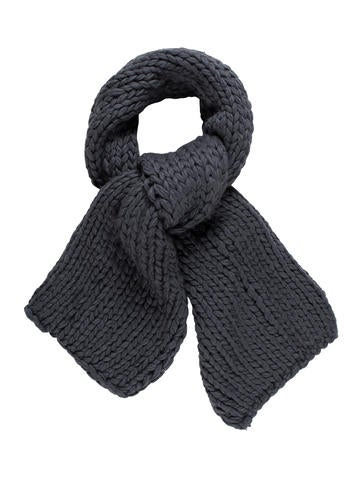 Costume National Wool Rib Knit Scarf None