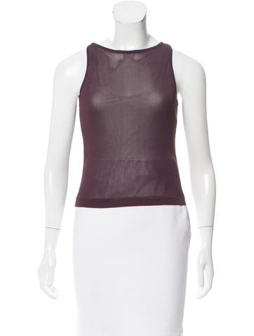 Costume National Sleeveless Open Knit Top None