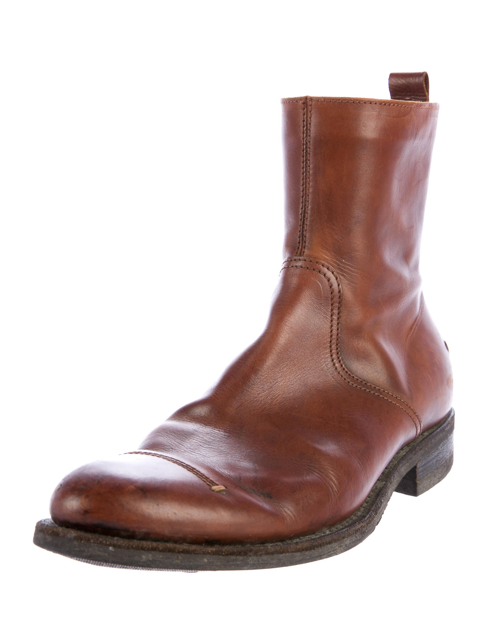 costume national leather ankle boots shoes cot24330