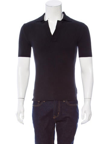 Costume National Rib Knit Polo Shirt None