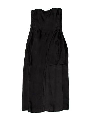 Costume National Strapless Midi Dress None