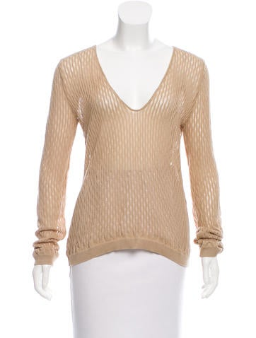 Costume National Textured Open Knit Sweater None