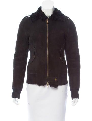 Costume National Long Sleeve Shearling Jacket None
