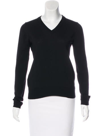 Costume National Long Sleeve V-Neck Sweater None