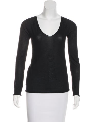 Costume National Long Sleeve Cashmere Top None