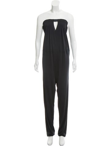Costume National Strapless Jersey Jumpsuit None