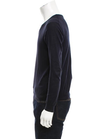 Rib Knit V-Neck Sweater
