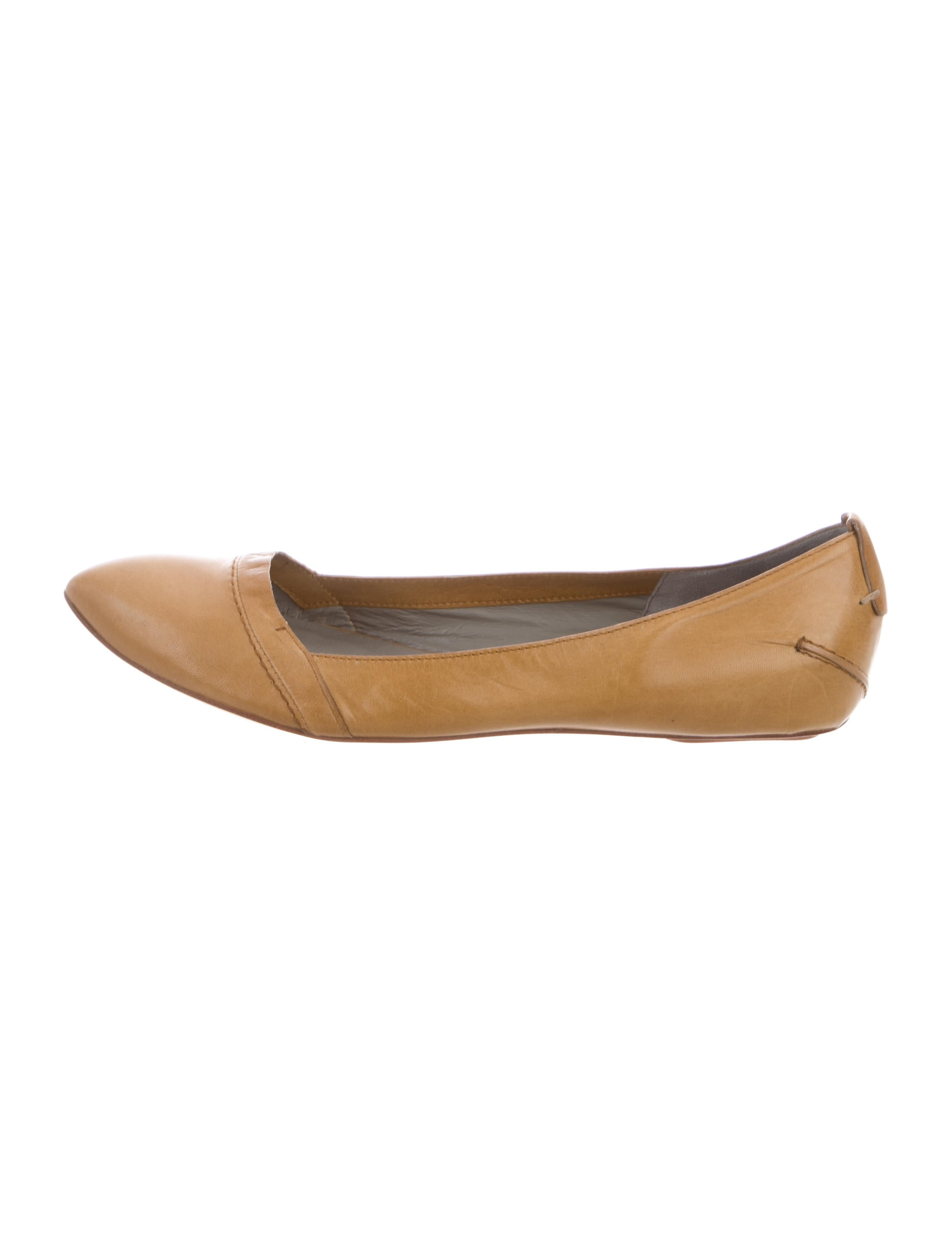 Costume National Leather Pointed-Toe Flats recommend cheap online EtOcLrxIGO