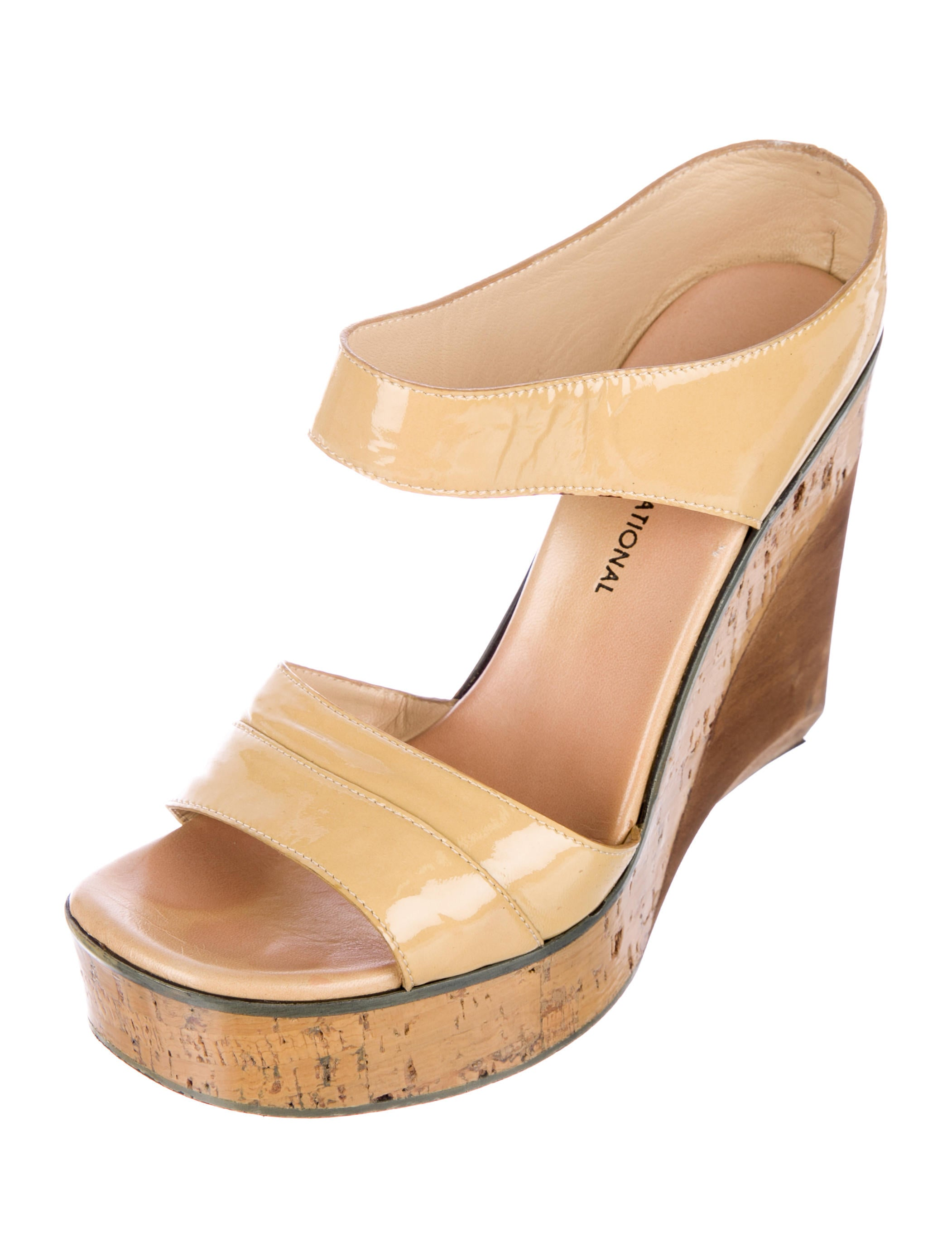 new arrival cheap price discount Costume National Patent Leather Wedge Sandals newest cheap online SkGxS