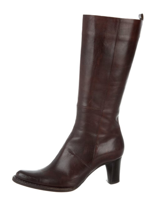 Leather Mid Calf Boots by Costume National