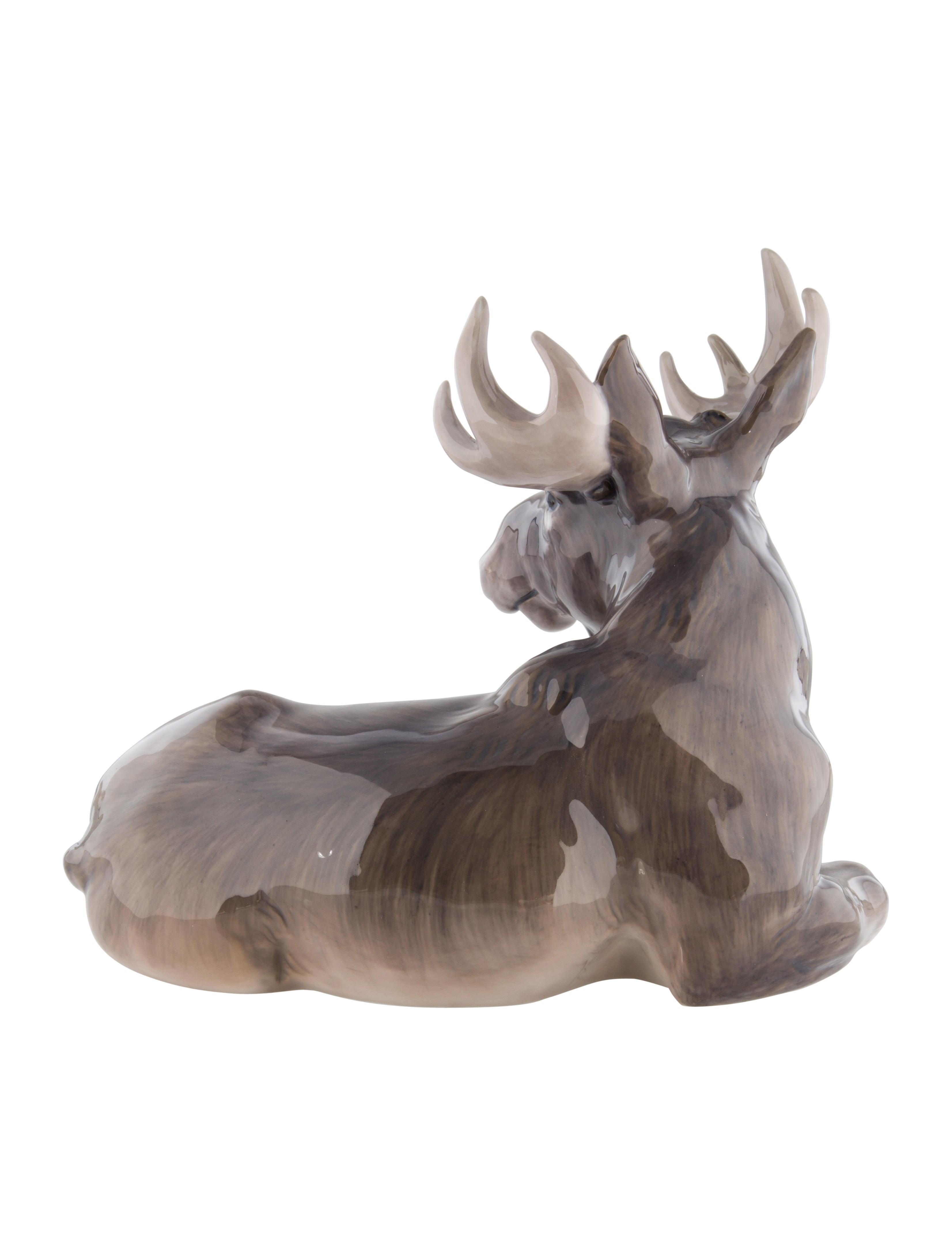 Royal Copenhagen Porcelain Moose Sculpture - Decor And Accessories ...