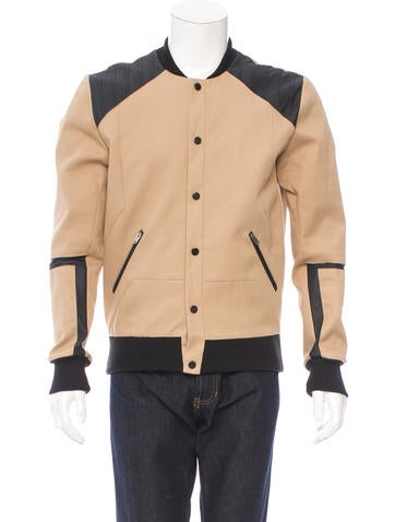Tim Coppens Leather-Trimmed Varsity Jacket None
