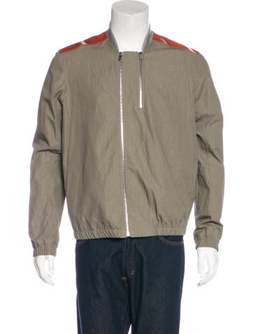 Tim Coppens Leather-Trimmed Woven Jacket w/ Tags None