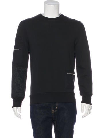 Tim Coppens Crew Neck Zip-Accented Sweatshirt w/ Tags None