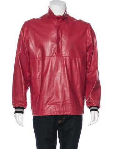 Tim Coppens Lambskin Popover Jacket w/ Tags None