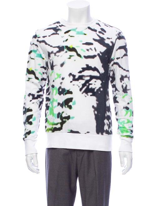 Tim Coppens Tie-Dye Print Crew Neck Sweatshirt Whi