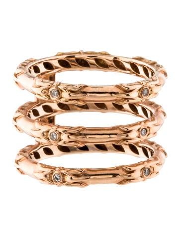 14K Diamond Caged Ring Band