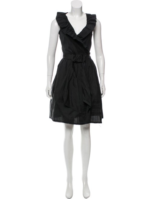 Catherine Regehr Silk Ruffle Wrap Dress