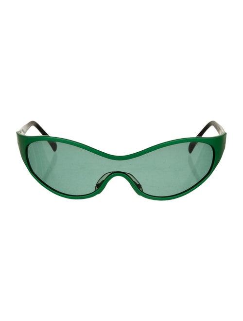Christian Roth Shield Tinted Sunglasses Green