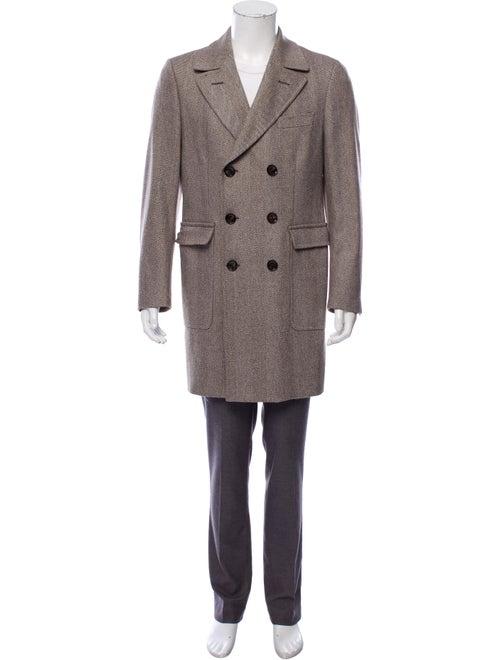 Crombie Wool Overcoat brown