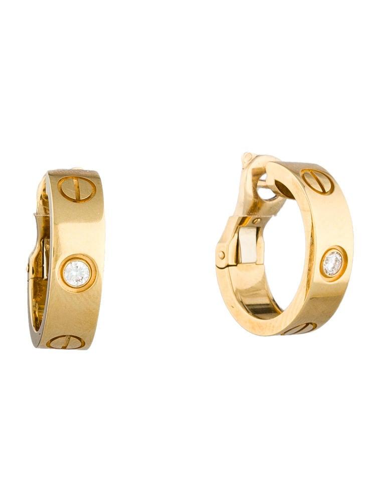 cartier love earrings earrings crt20388 the realreal