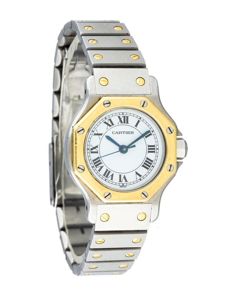 Cartier Santos Automatic Watch CRT20419 The RealReal : CRT204191enlarged from www.therealreal.com size 758 x 1000 jpeg 63kB