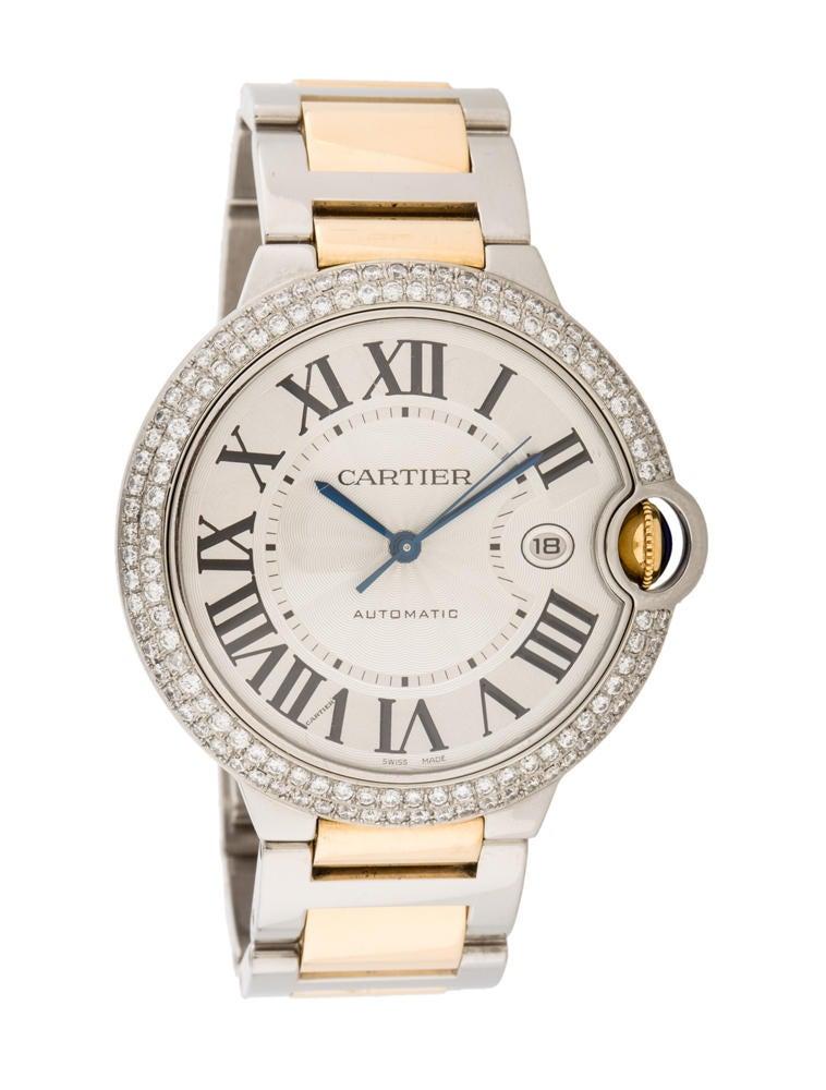 74e3f6fdd3391 Yükle (758x1000)Cartier Ballon Bleu Diamond Watch - CRT20455 The  RealRealUnisex 18k yellow gold and stainless steel 42mm Cartier Ballon Bleu  automat.