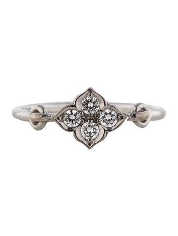 Diamond Quatrefoil Ring