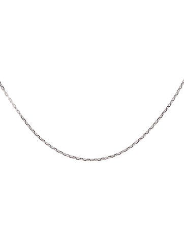 silver chain open necklace com inch amazon sterling cable dp