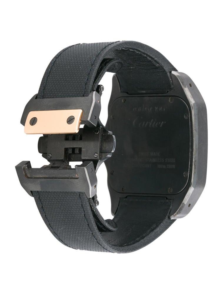 Cartier Santos 100 Carbon Watch W2020009 CRT21106 | The RealReal