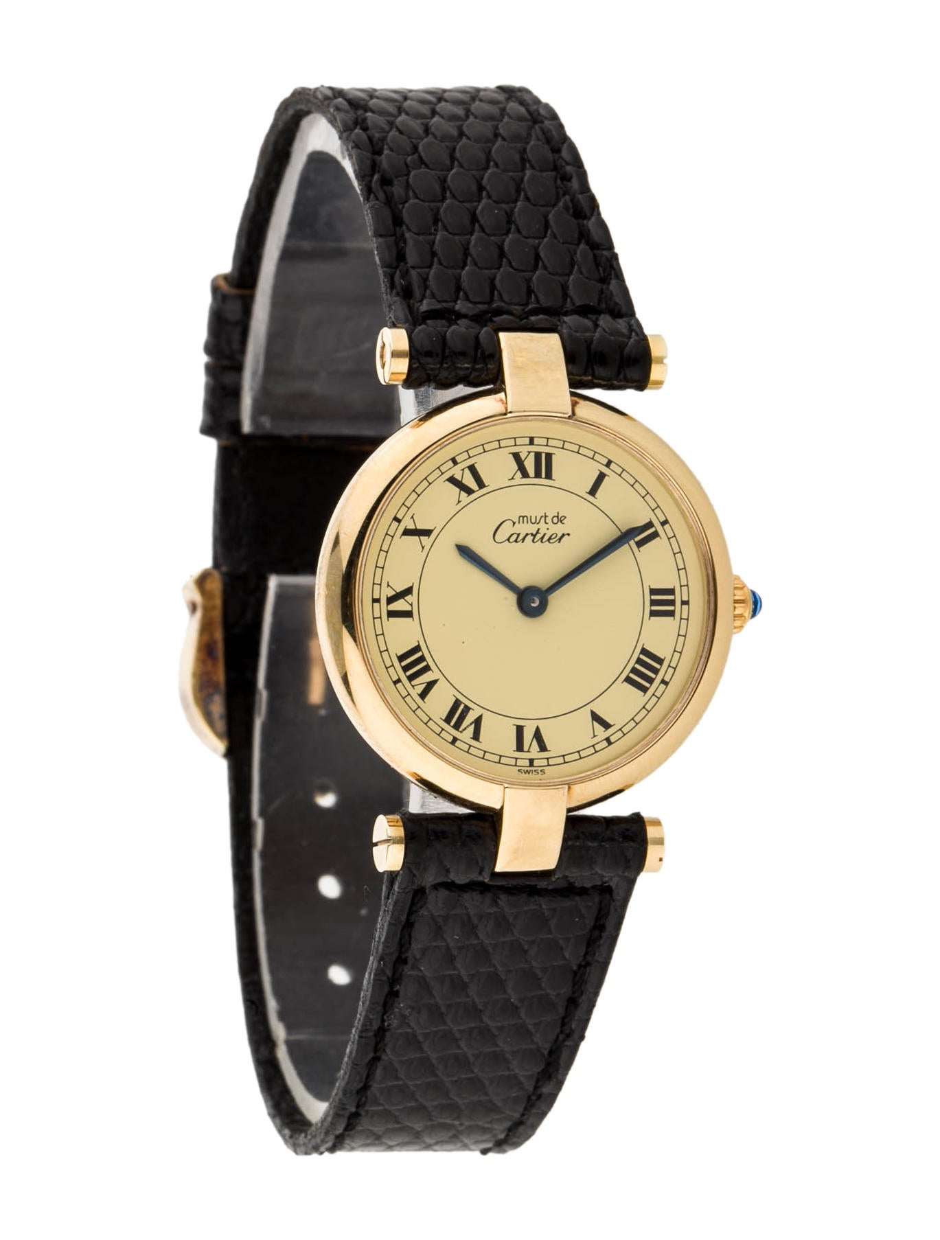 cartier le must de cartier watch strap crt21212 the realreal. Black Bedroom Furniture Sets. Home Design Ideas