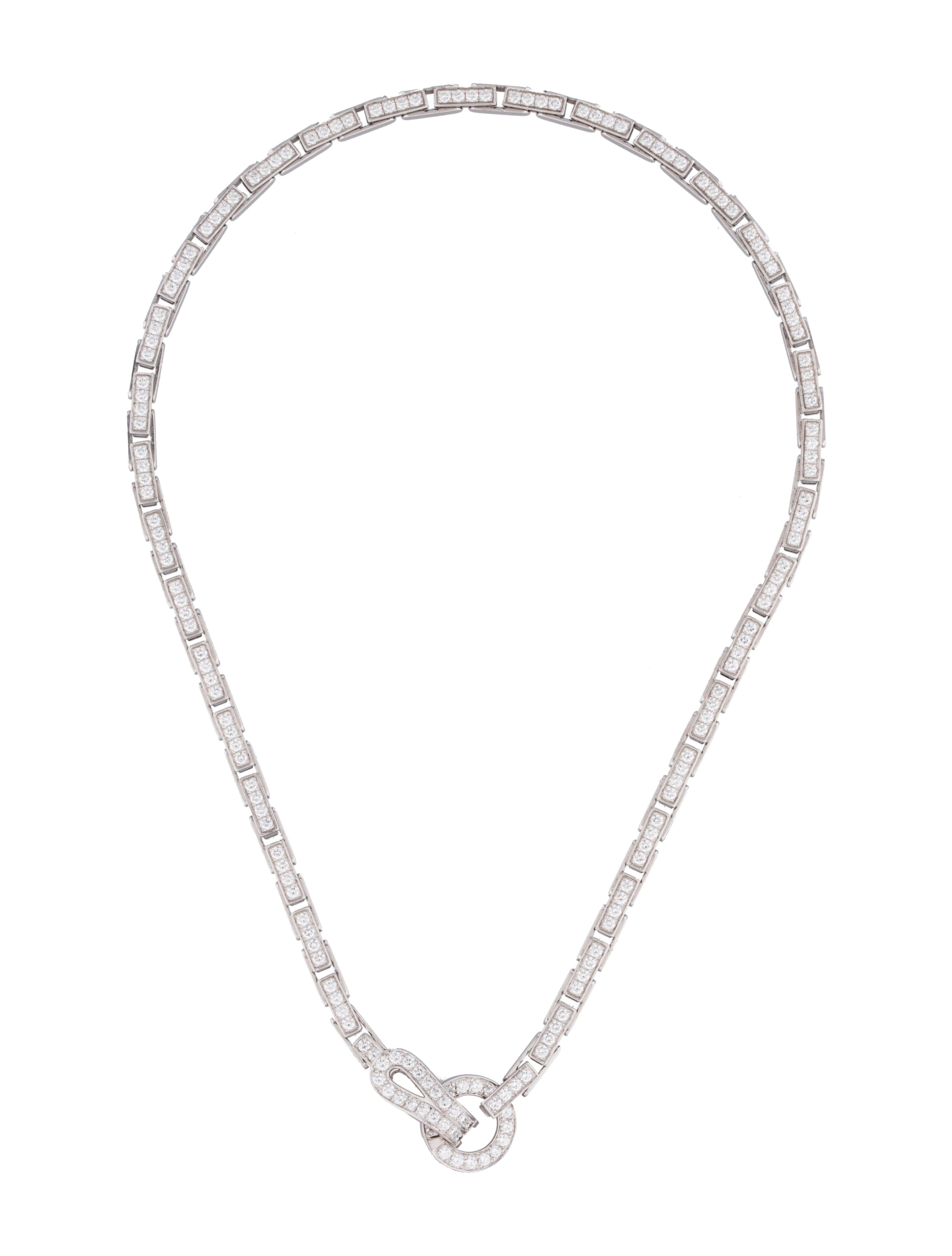 Cartier Agrafe Diamond Necklace - Necklaces - CRT21688 ...