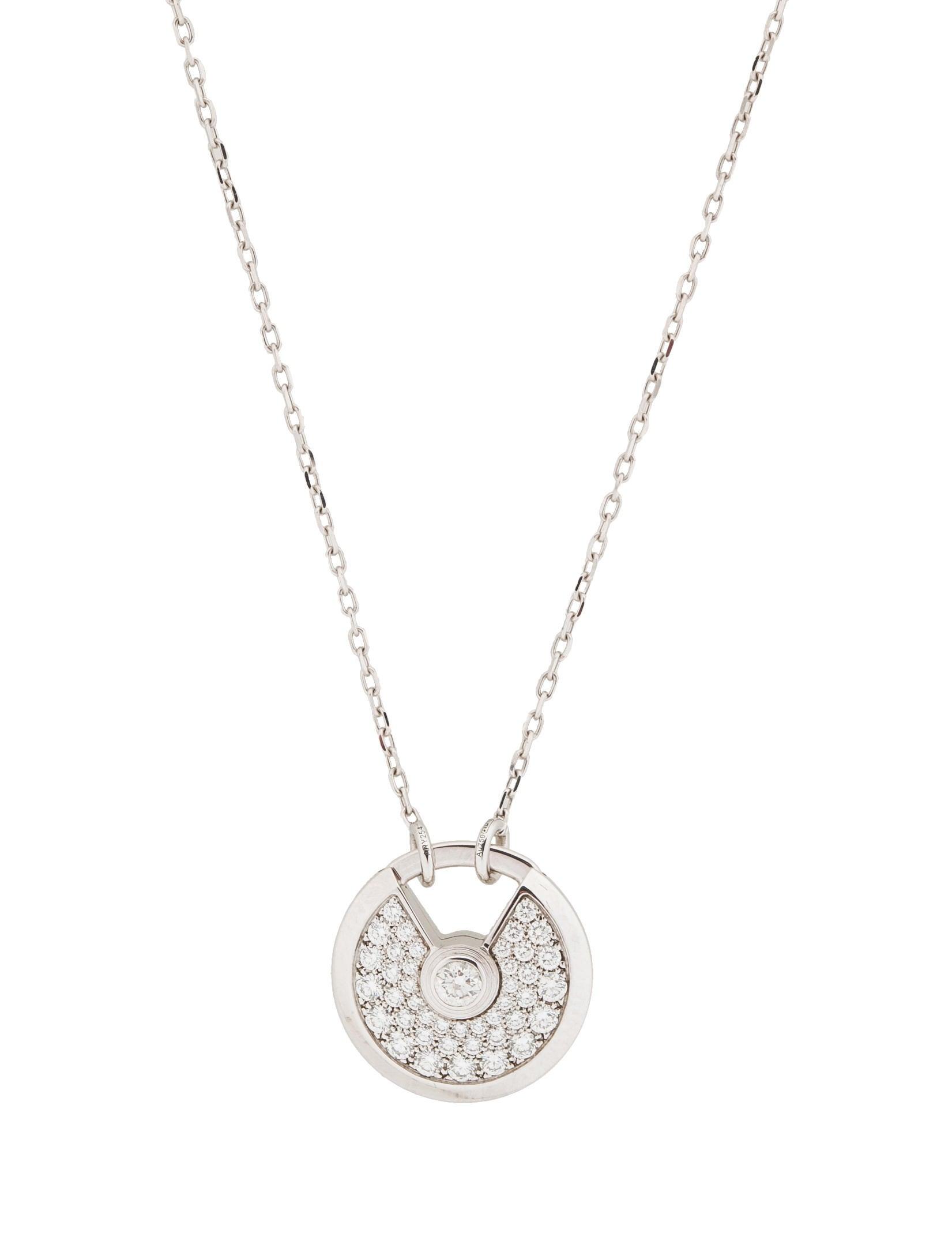 Cartier amulette de cartier diamond necklace necklaces amulette de cartier diamond necklace mozeypictures Image collections