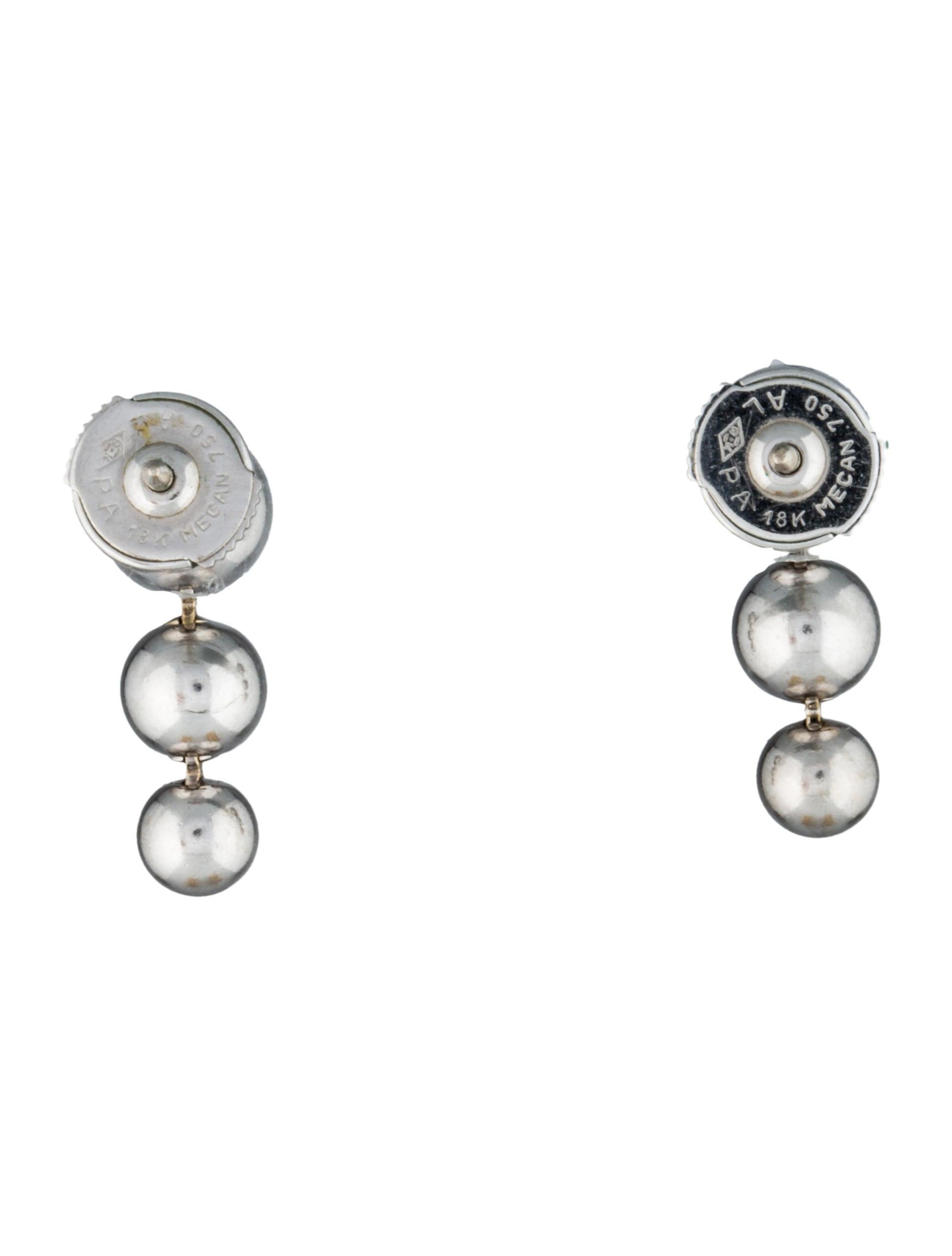 cartier diamond drop earrings earrings crt22318 the