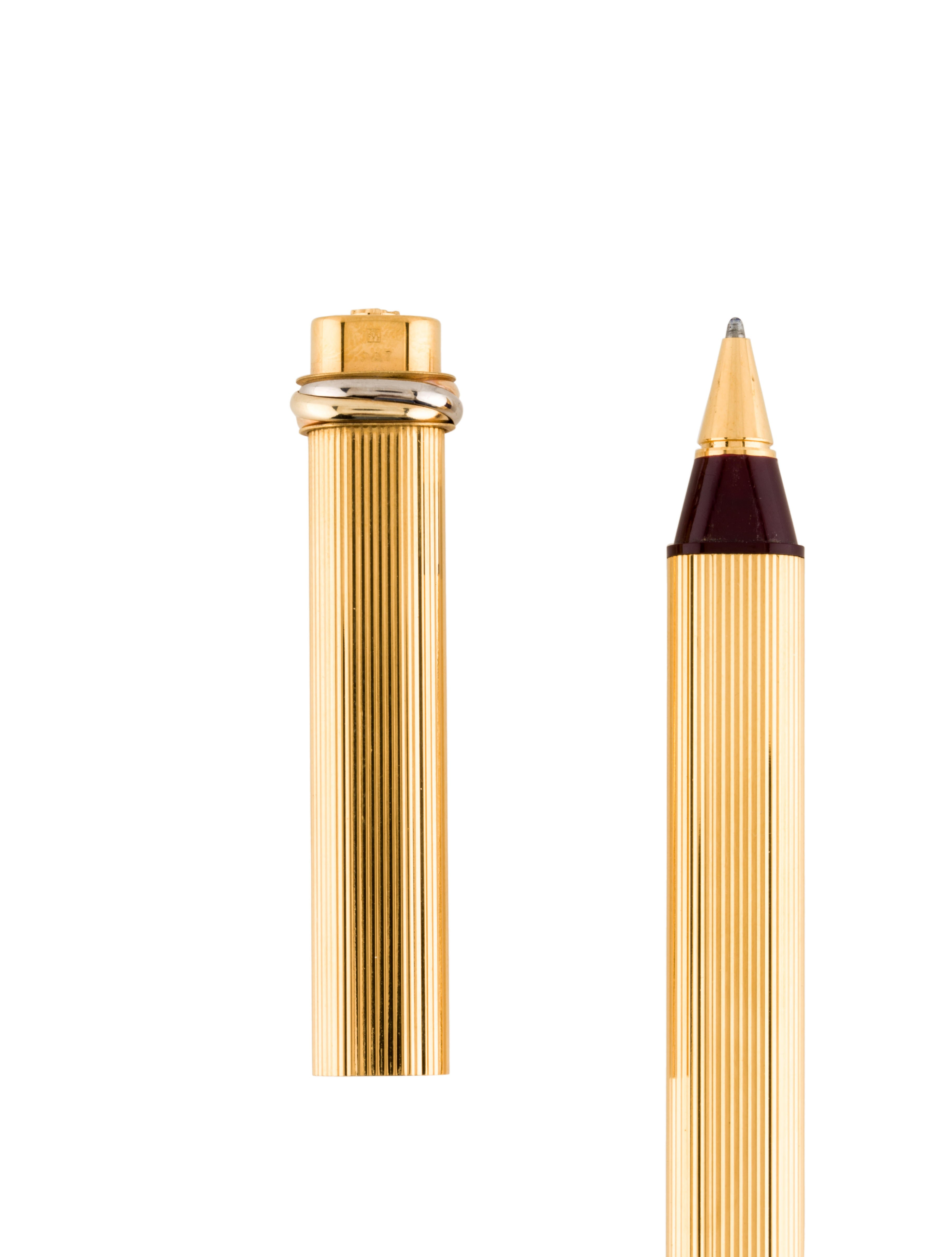 Cartier Must de Cartier Vendome Pen Accessories  : CRT235413enlarged from www.therealreal.com size 3648 x 4813 jpeg 486kB