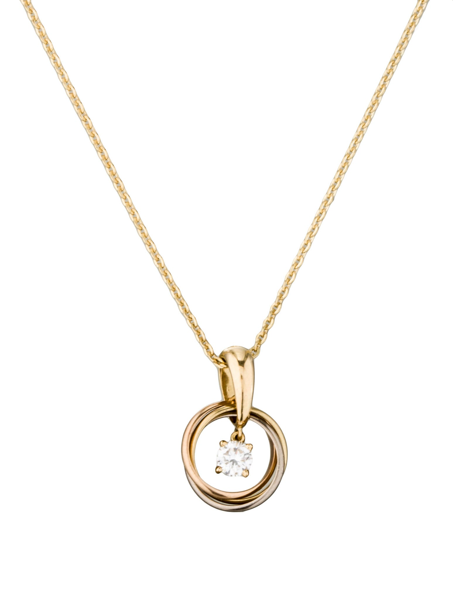 Cartier trinity diamond pendant necklace necklaces crt23779 trinity diamond pendant necklace mozeypictures Image collections