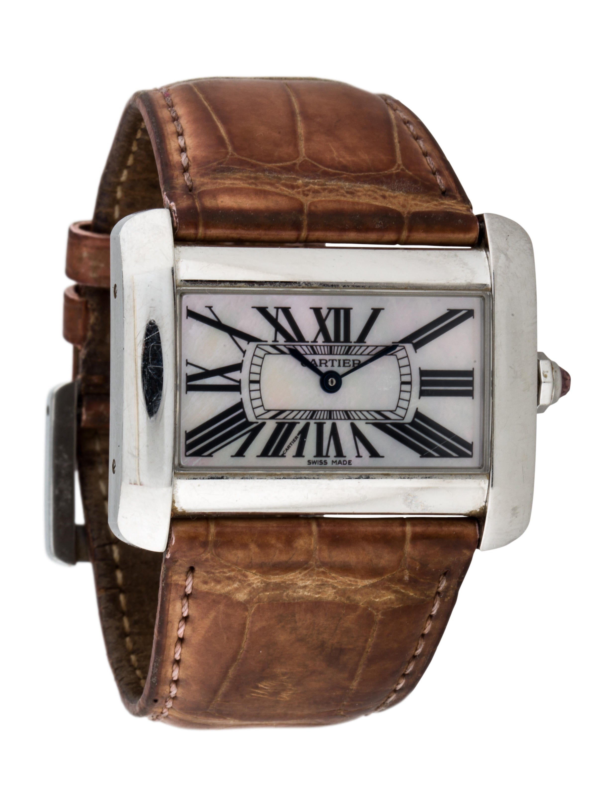 Cartier tank divan watch strap crt24165 the realreal for Cartier divan xl
