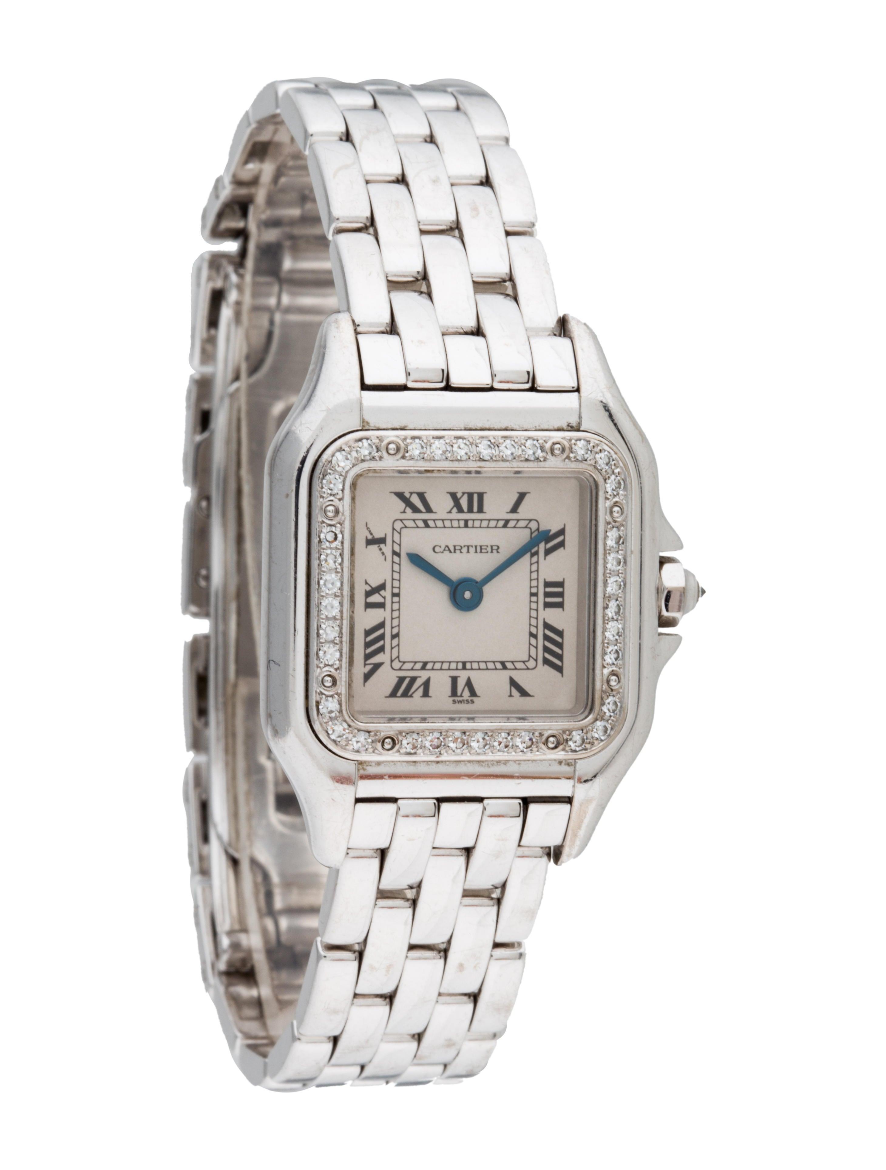 cartier diamond panth re de cartier watch   bracelet