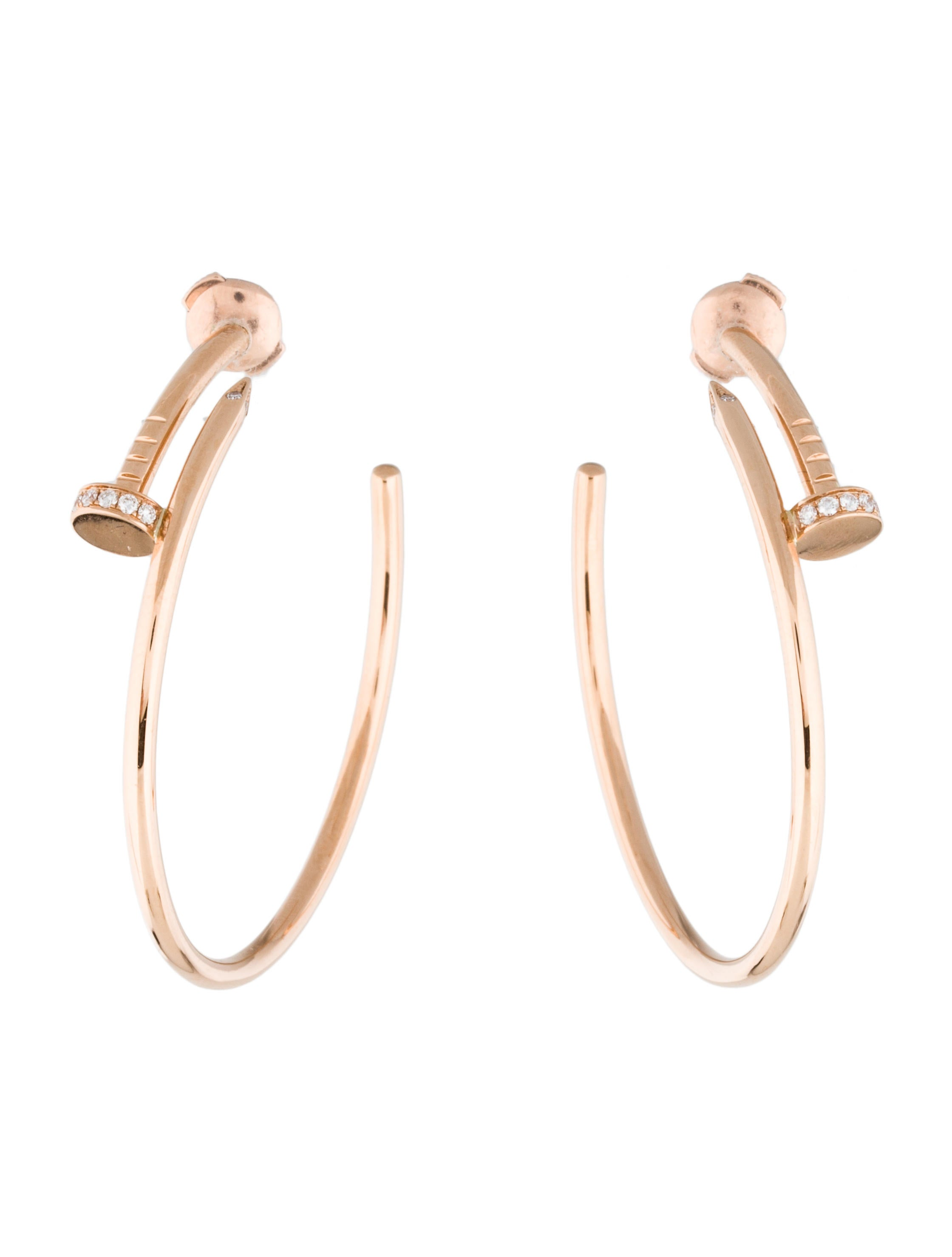 Cartier Diamond Juste Un Clou Earrings - Earrings ...