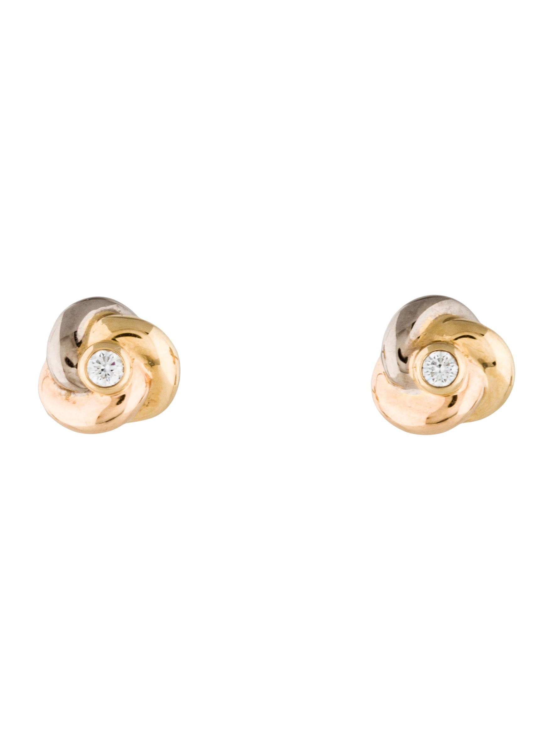 trinity earrings cartier com stud en de diamond harrods gb