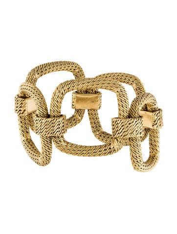 Cartier 18K Tiered Square Link Bracelet