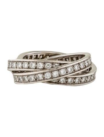 Trinity Diamond Rolling Rings