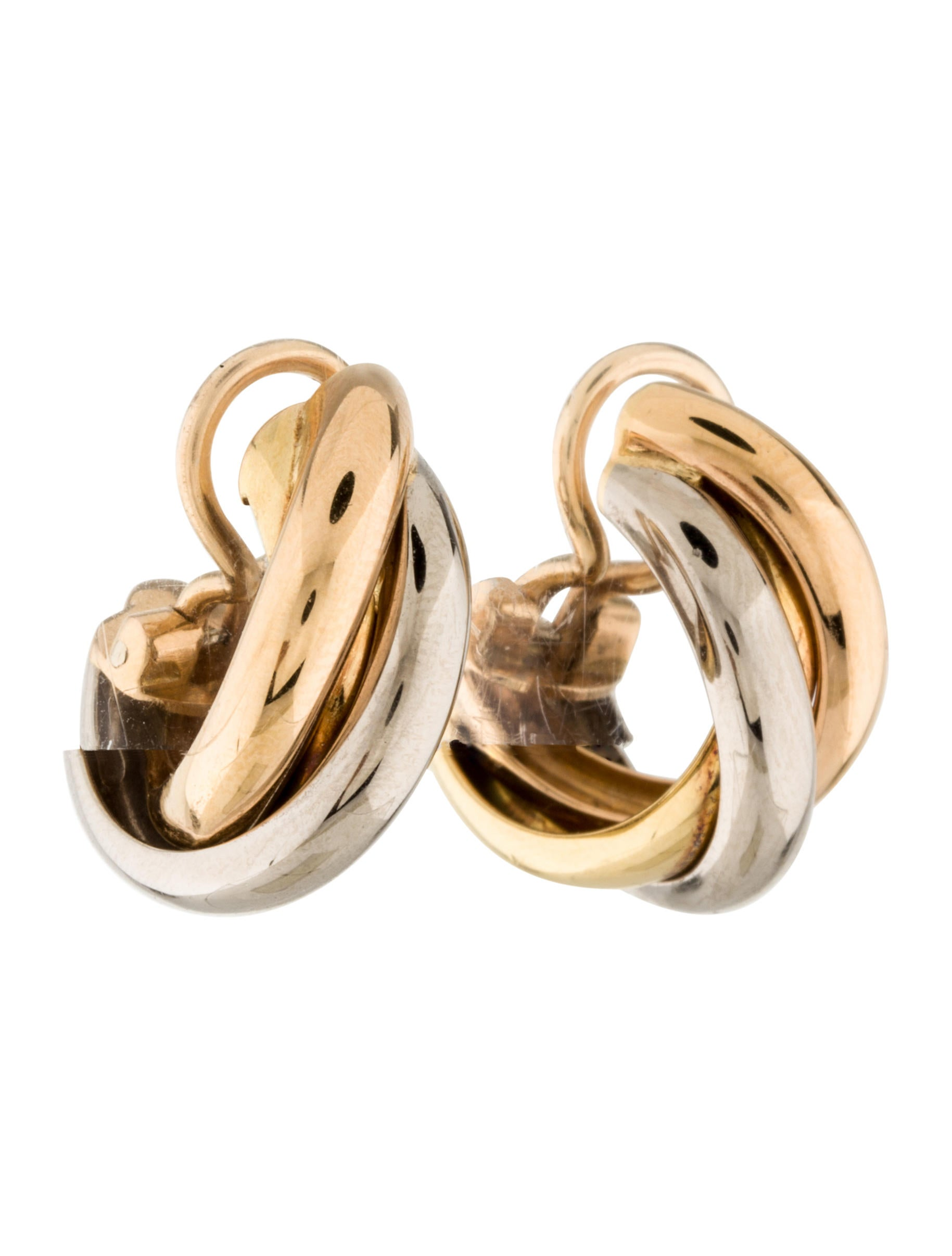 en trinity by cartier de number timelesspriceless earrings product ref gold