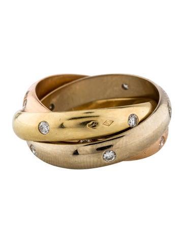 Diamond Trinity Rolling Ring
