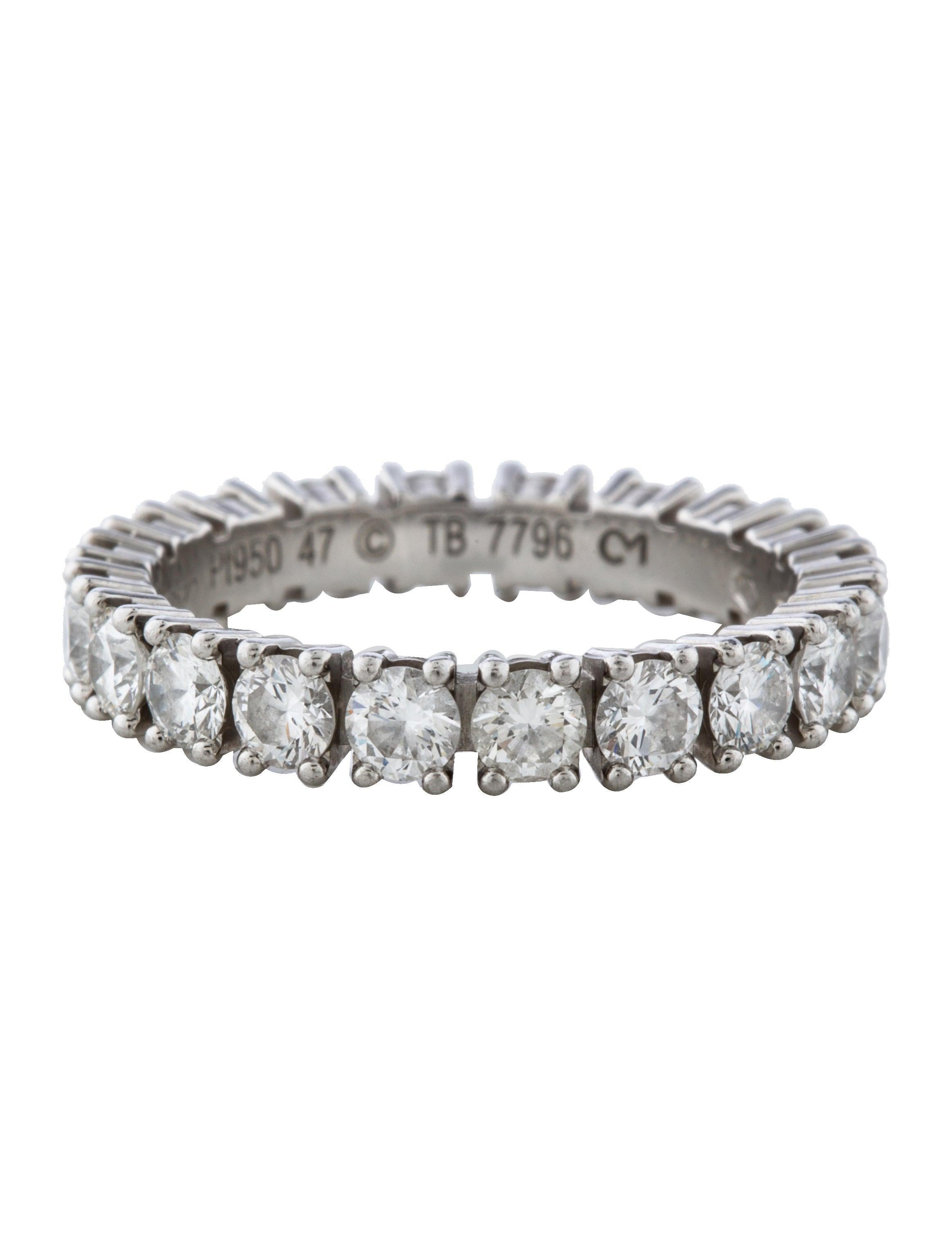cartier etincelle de cartier diamond eternity band rings