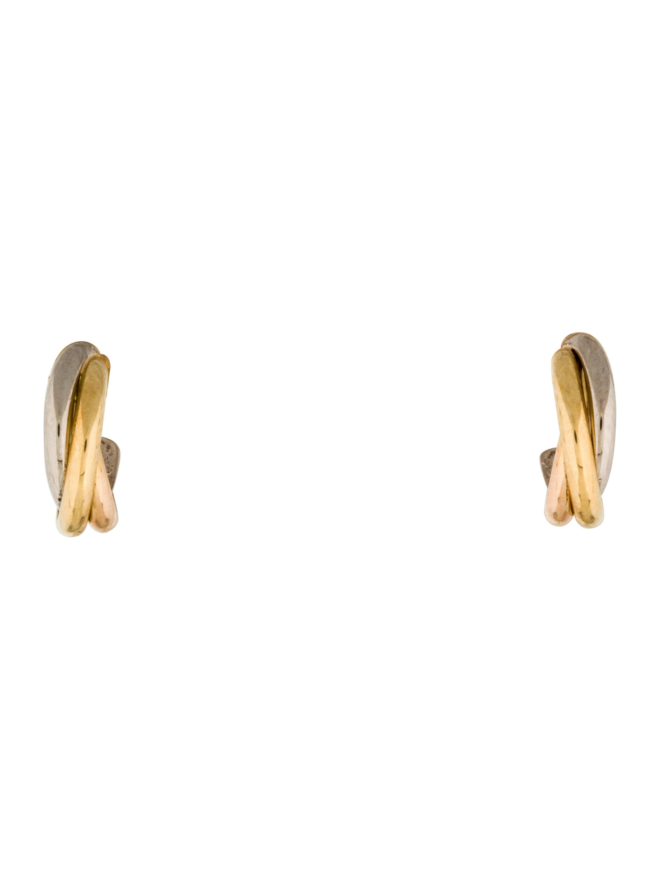 rose cartier products de trinity gold medium earrings yellow vintage hoop white